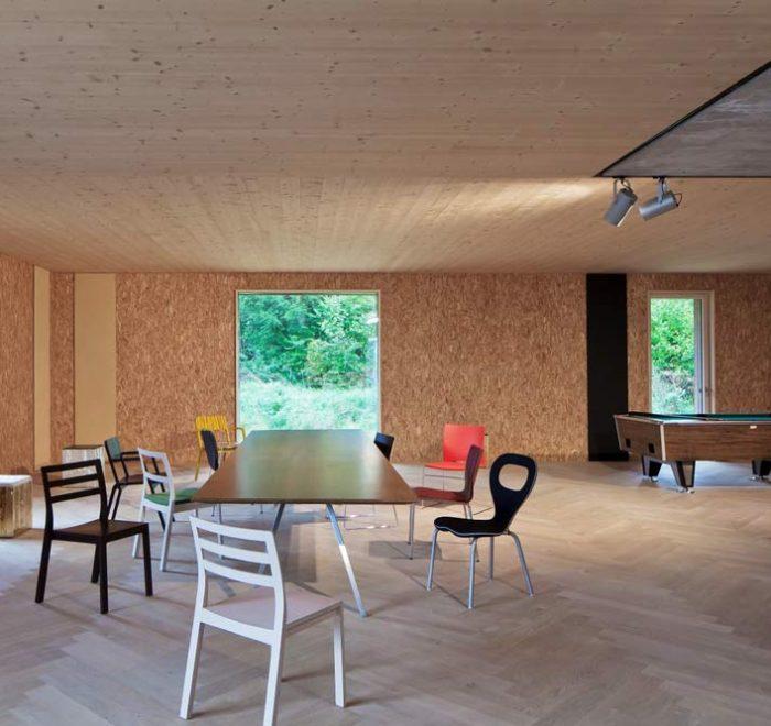 Plusenergie Bürogebäude Thalgau, mit Holz bauen